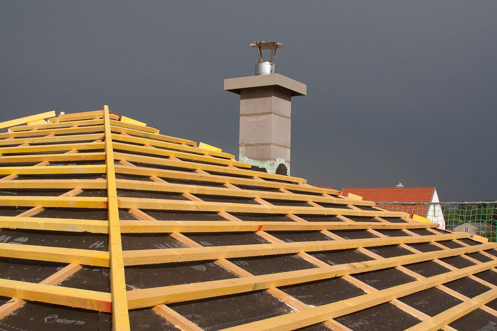 Welche Dachziegel dach ist fertig baublog zum neuen haus in dresden leuben