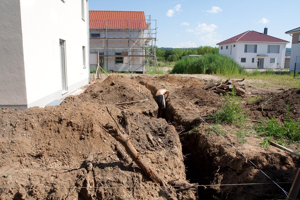 Beliebt Regenwasserrohre verlegt | Baublog zum neuen Haus in Dresden-Leuben KQ79