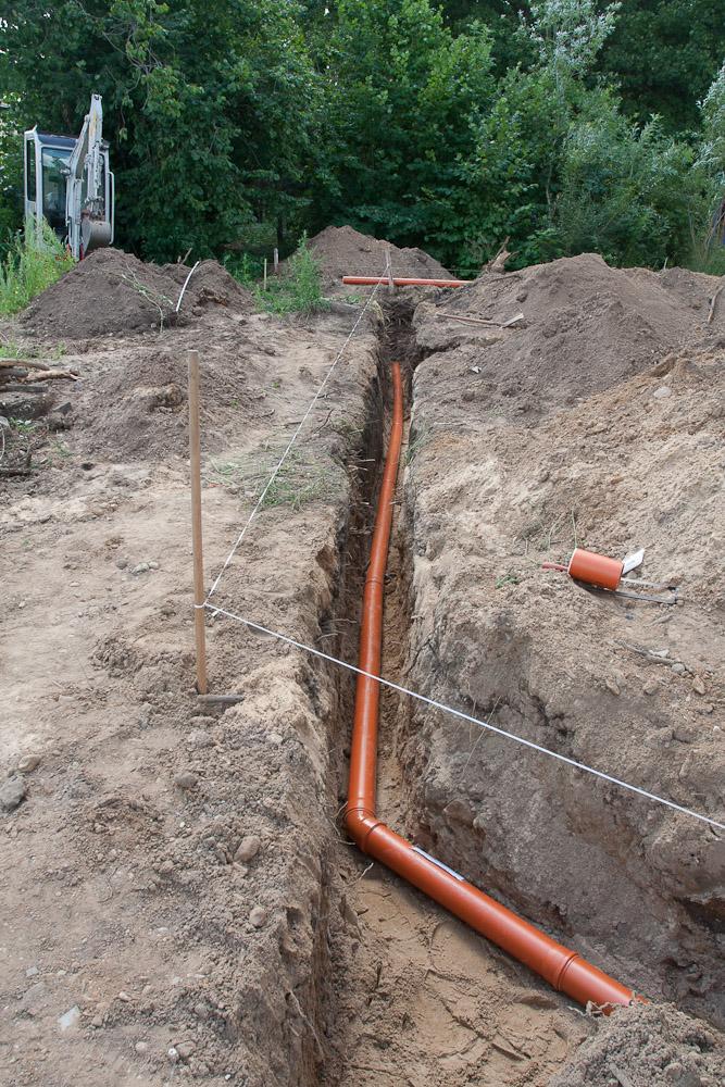 Gut bekannt Regenwasserrohre verlegt | Baublog zum neuen Haus in Dresden-Leuben PU62
