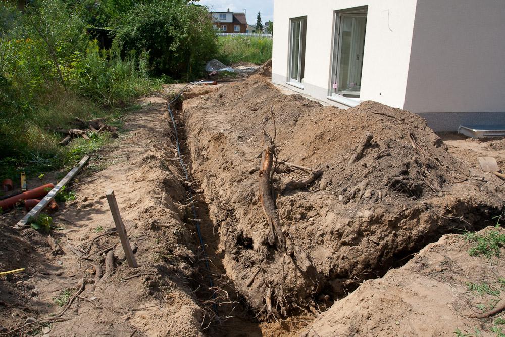 Häufig Regenwasserrohre verlegt | Baublog zum neuen Haus in Dresden-Leuben NL36